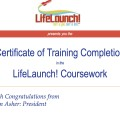 LifeLaunch! Certificate of Completion